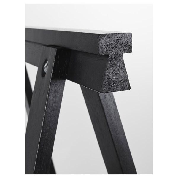 ODDVALD Benbuk, sort, 70x70 cm