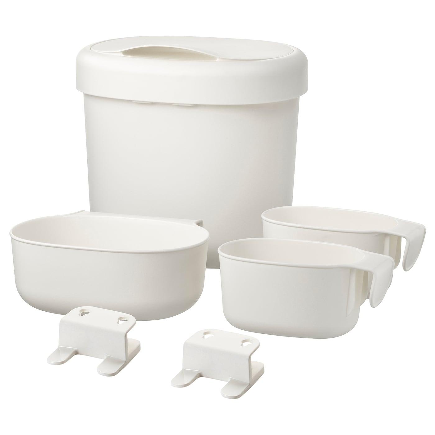 Picture of: Onsklig Opbevaring Til Puslebord 4 Dele Hvid Ikea