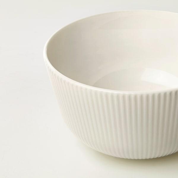 OFANTLIGT Skål, hvid, 13 cm