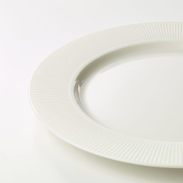 OFANTLIGT Tallerken, hvid, 28 cm