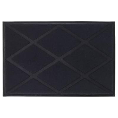 OKSBY dørmåtte grå 90 cm 60 cm 0.54 m² 600 g/m² 4 mm