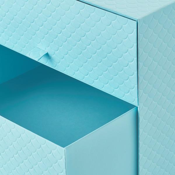 PALLRA Minikommode 3 skuffer, lyseblå, 31x26x31 cm