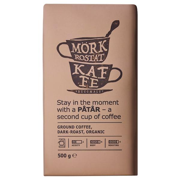 PÅTÅR Filterkaffe, mørkristet, økologisk/UTZ-certifi/100% Arabica-bønner