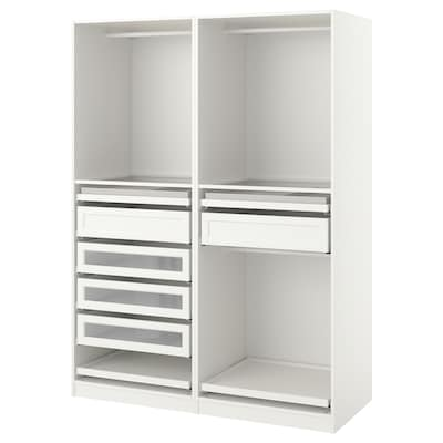 PAX Garderobekombination, hvid, 150x58x201 cm