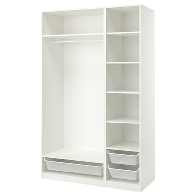 PAX Garderobekombination, hvid, 150x58x236 cm