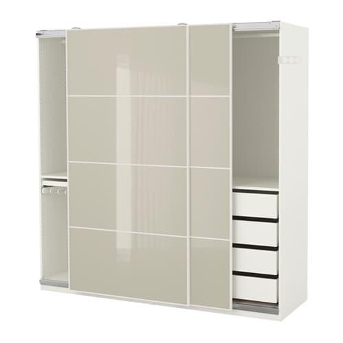 ikea pax skab samlevejledning PAX Garderobeskab   200x66x236 cm, anordning til blød lukning   IKEA ikea pax skab samlevejledning