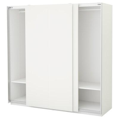 PAX Garderobeskab, hvid/Hasvik hvid, 200x66x201 cm
