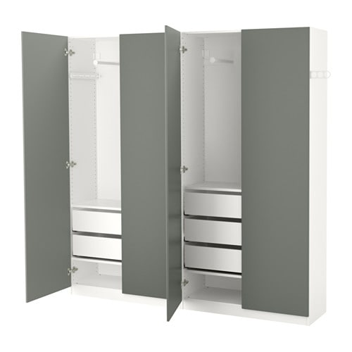 pax garderobeskab 200x38x201 cm ikea. Black Bedroom Furniture Sets. Home Design Ideas