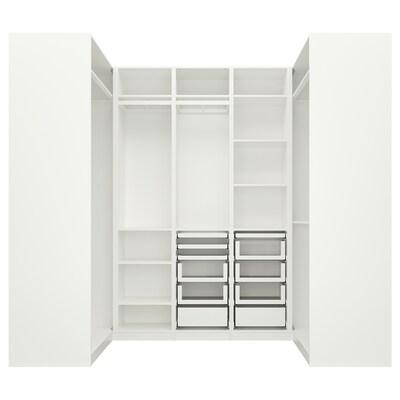 PAX Hjørnegarderobe, hvid, 113/271/113x236 cm