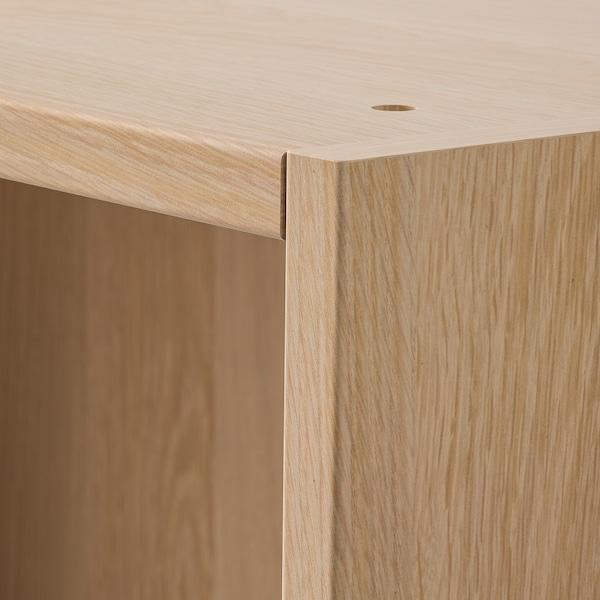PAX Stel, egetræsmønster med hvid bejdse, 50x58x236 cm