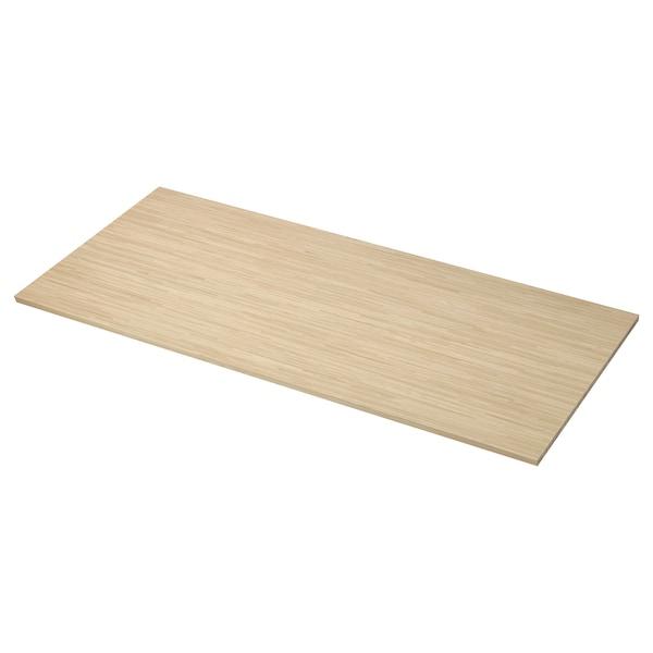 PINNARP Bordplade efter mål, ask/finer, 45.1-63.5x3.8 cm