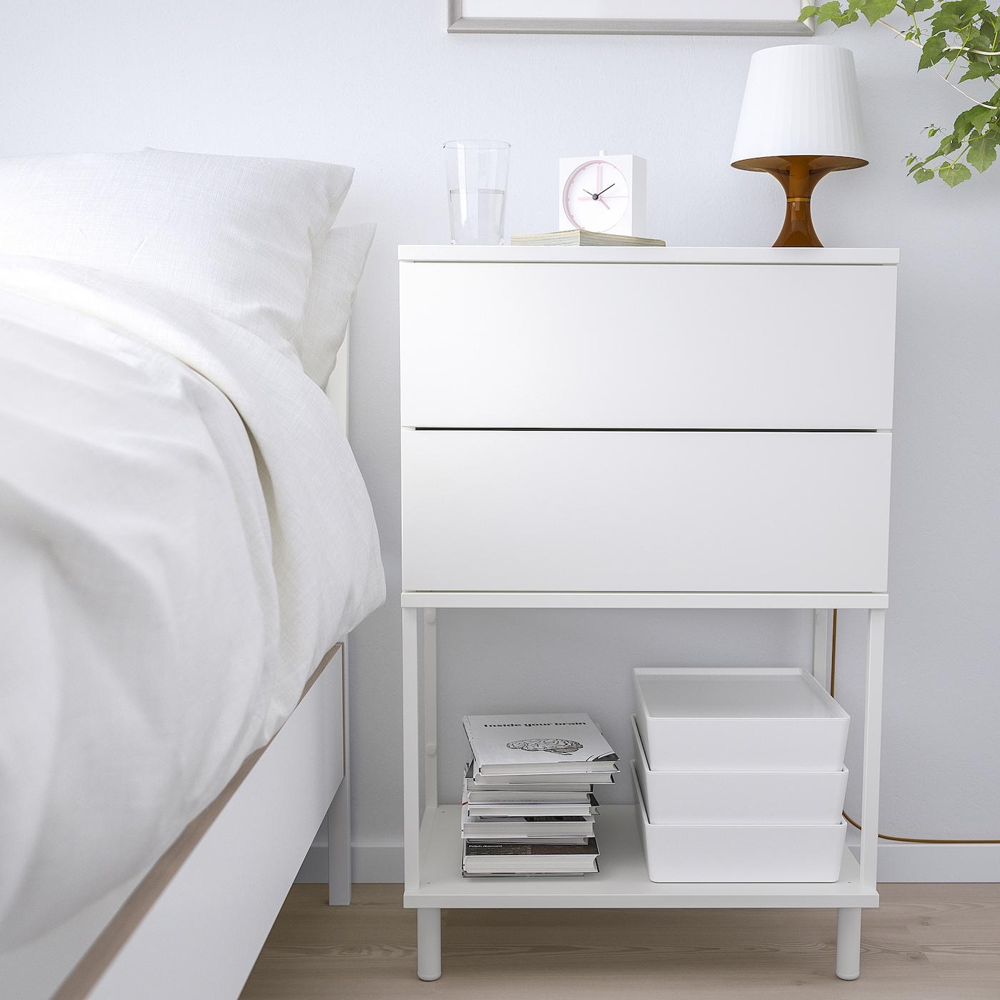 Picture of: Platsa Kommode 2 Skuffer Hvid Fonnes Ikea