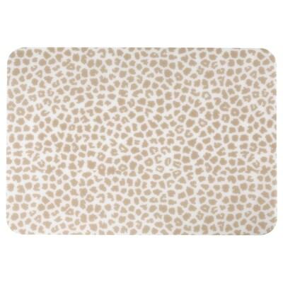 PLUGGHÄST Skriveunderlag, mønstret beige/transparent, 65x45 cm