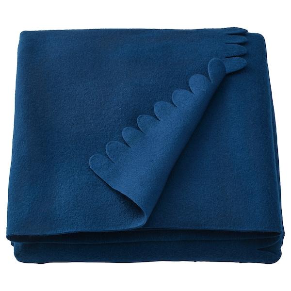 POLARVIDE Plaid, mørkeblå, 130x170 cm