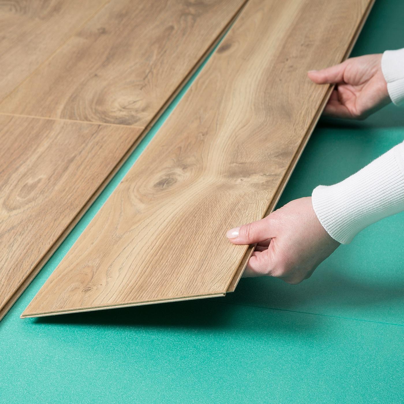 PRÄRIE Laminatgulv, egetræsmønstret - IKEA