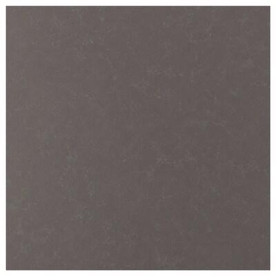 RÅHULT Vægplade efter mål, mat mørkegrå/marmormønstret kvarts, 1 m²x1.2 cm