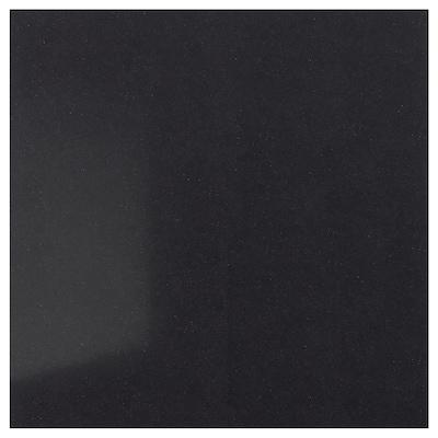 RÅHULT Vægplade efter mål, sort stenmønstret/kvarts, 1 m²x1.2 cm