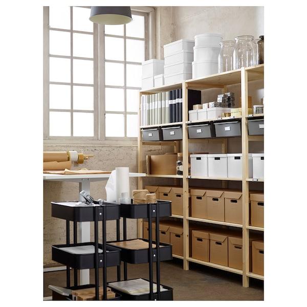 RÅSKOG Rullebord, sort, 35x45x78 cm
