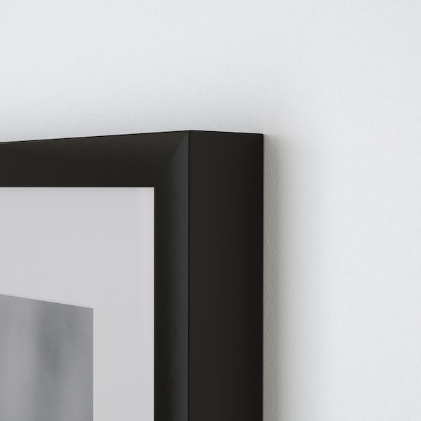 RIBBA Ramme, sort, 40x50 cm
