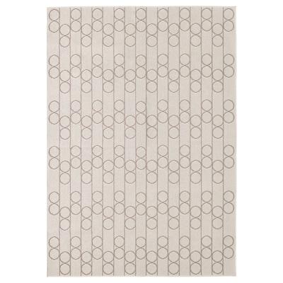 RINDSHOLM Tæppe, fladvævet, beige, 160x230 cm