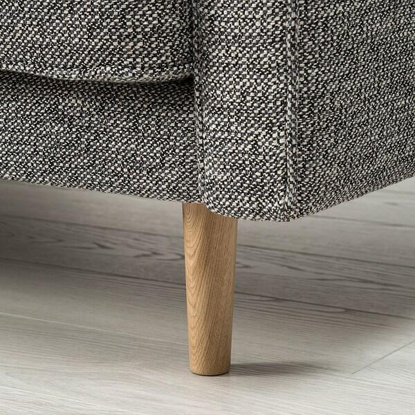 RINGSTORP 2-pers. sofa, sort/hvid/natur