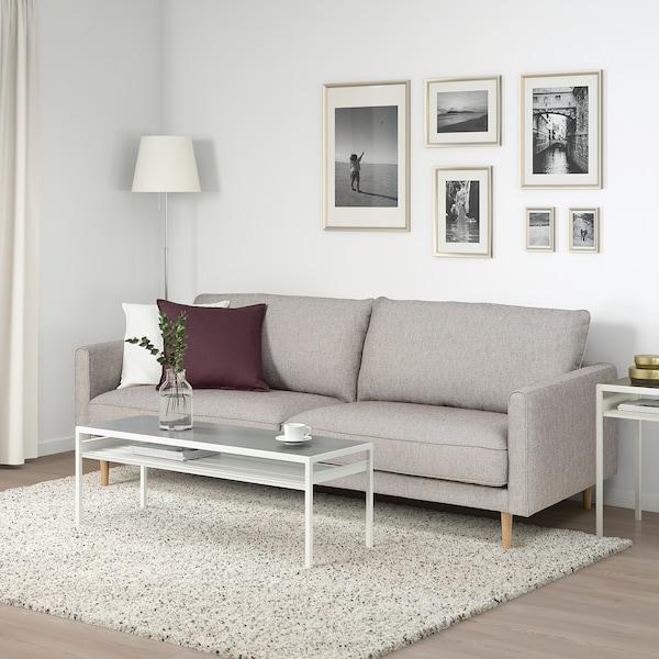 RINGSTORP 3-pers. sofa, grå/beige/natur