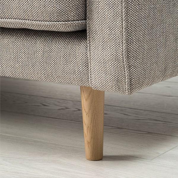 RINGSTORP 4-pers. sofa, med chaiselong/grå/beige natur