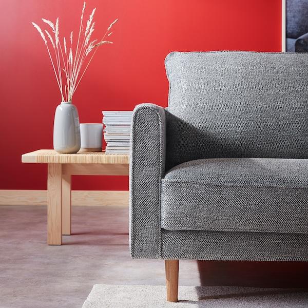 RINGSTORP 4-pers. sofa, med chaiselong/sort/hvid natur