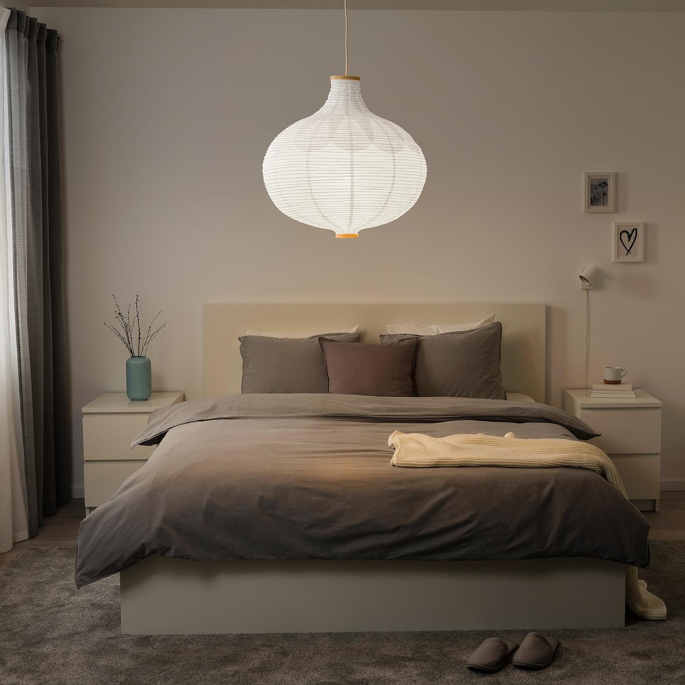 Picture of: Risbyn Loftlampeskaerm Logformet Hvid 57 Cm Ikea