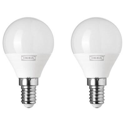 RYET LED-pære E14 200 lumen globe opalhvid 200 lm 2 stk