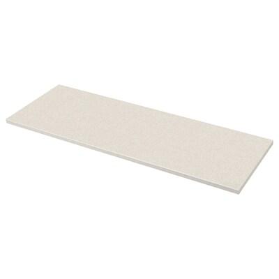 SÄLJAN Bordplade, hvid stenmønstret/laminat, 246x3.8 cm