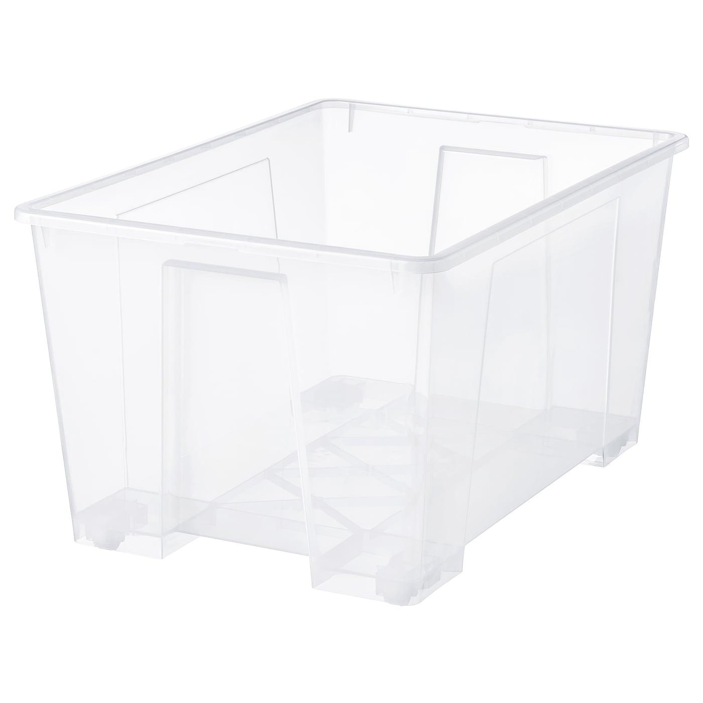 Picture of: Samla Boks Transparent 78x56x43 Cm 130 L Ikea