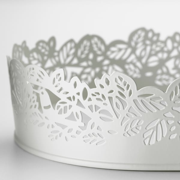 SAMVERKA Lysfad, oval hvid, 35x15 cm