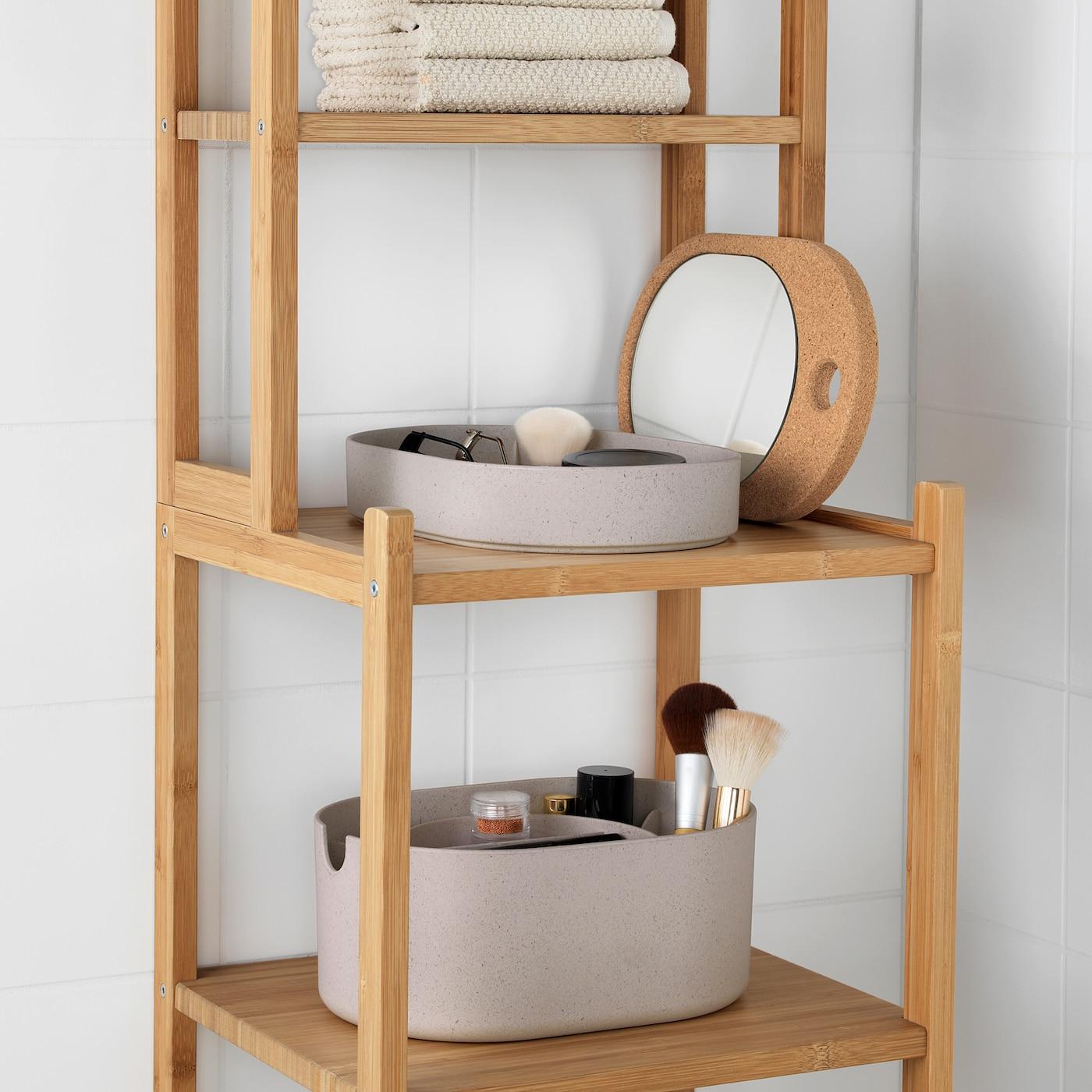 Saxborga Opbevaringsboks Med Spejllag Plast Kork 24x17 Cm Ikea