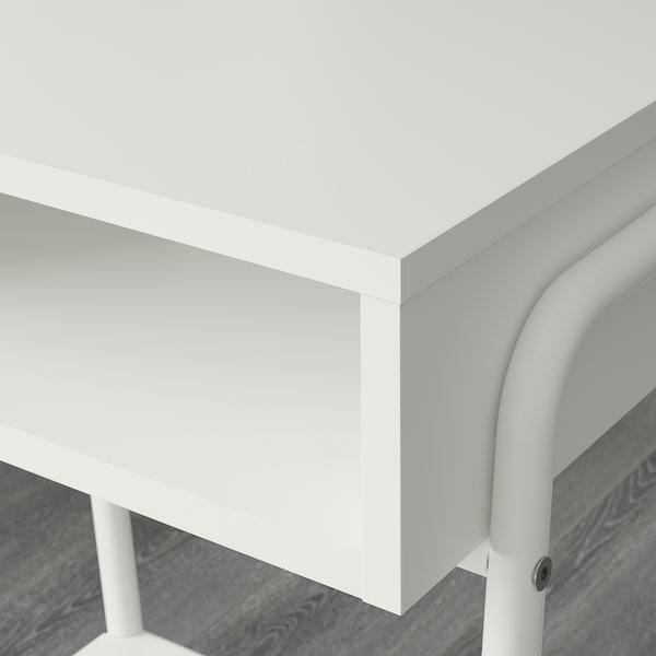 SETSKOG Sengebord, hvid, 45x35 cm
