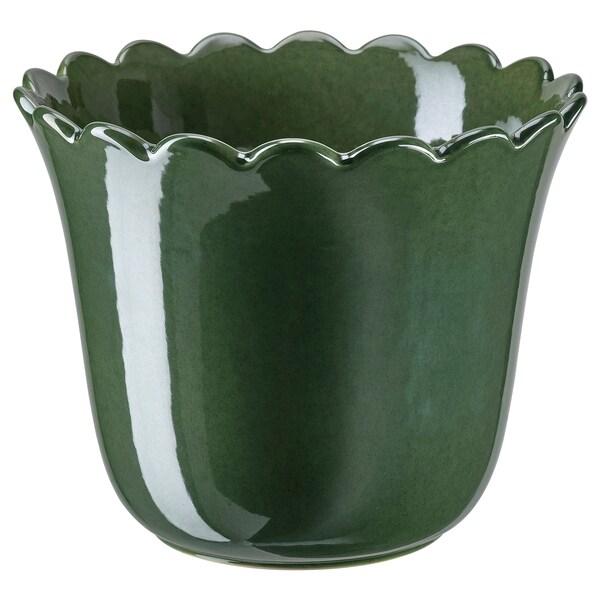 SHARONFRUKT Urtepotteskjuler, indendørs/udendørs grøn, 15 cm