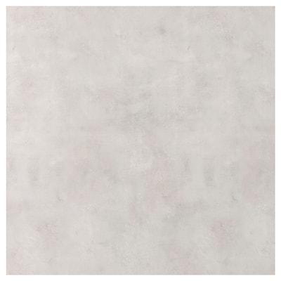 SIBBARP vægplade efter mål lysegrå betonmønstret/laminat 10 cm 300 cm 10 cm 120 cm 1.3 cm 1 m²