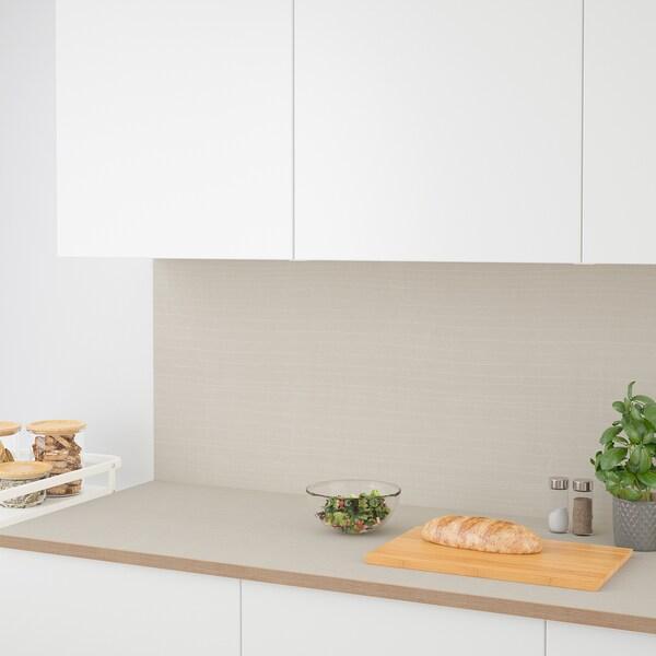 SIBBARP vægplade efter mål mat overflade beige/mønstret laminat 10 cm 300 cm 10 cm 120 cm 1.3 cm 1 m²