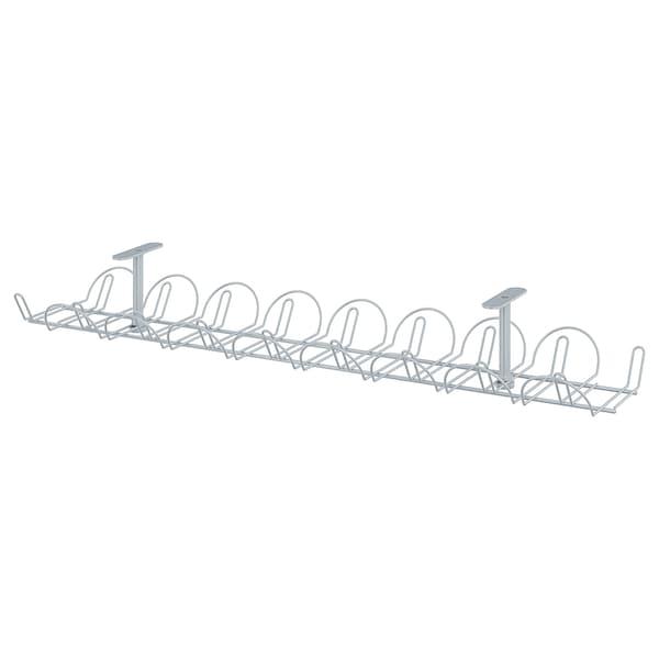 SIGNUM Kabelkanal horisontal, sølvfarvet, 70 cm