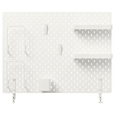 SKÅDIS Hulplade, kombination, hvid, 76x56 cm