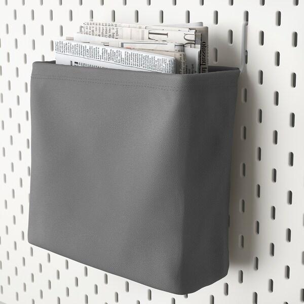 SKÅDIS Opbevaringspose, hvid/grå