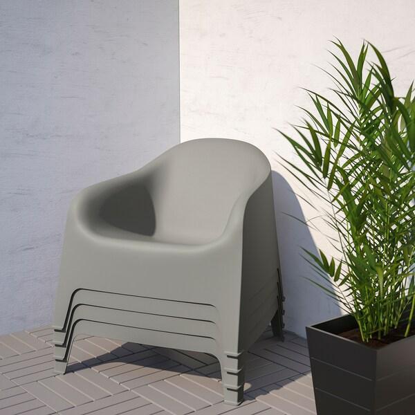 SKARPÖ Lænestol, ude, mellemgrå