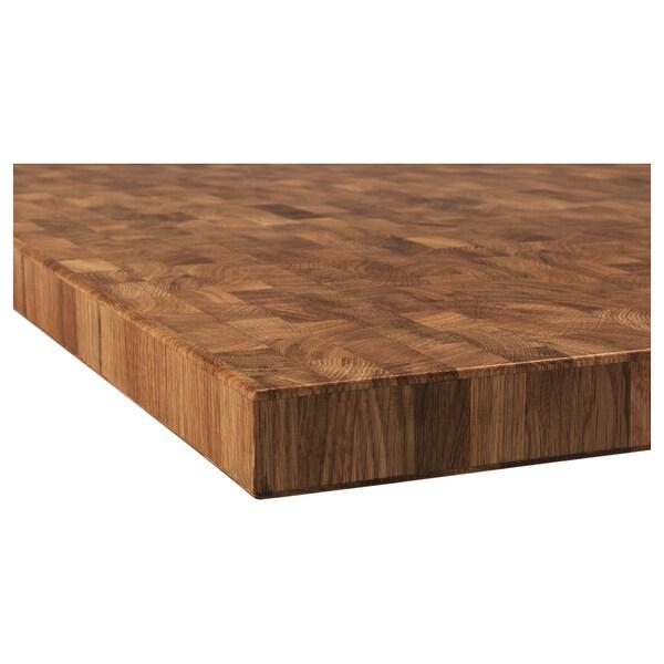 SKOGSÅ Bordplade, eg/finer, 246x3.8 cm