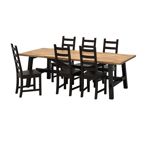 spisebord m stole træ ikea SKOGSTA / KAUSTBY Bord og 6 stole   IKEA spisebord m stole træ ikea
