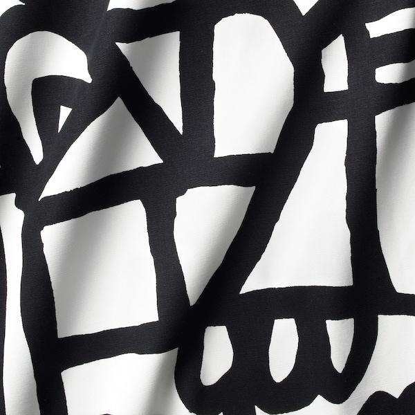 SKUGGBRÄCKA Metervare, hvid/sort, 150 cm