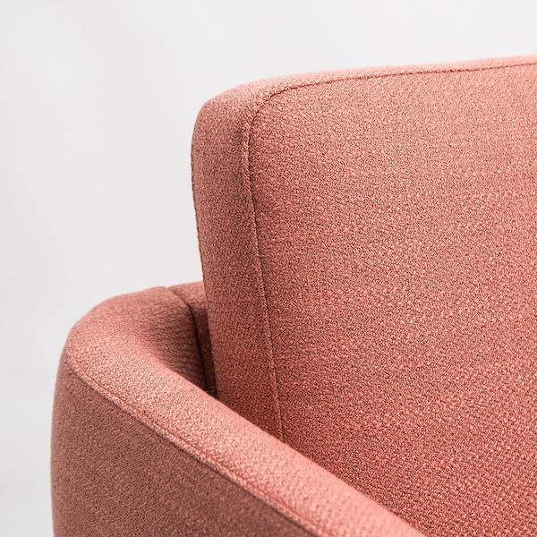 SKULTORP 3-pers. sofa, koralrød/natur