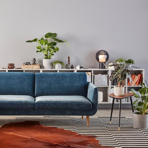 SKULTORP 3-pers. sofa, mørkeblå/natur