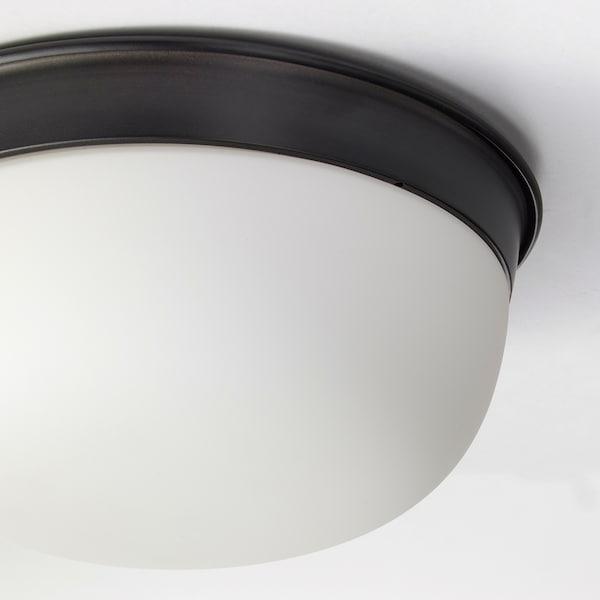 SKURUP Lofts-/væglampe, sort, 25 cm