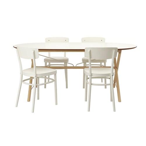 SL?HULT/DALSHULT / IDOLF Bord og 4 stole IKEA Massivt trae er et ...