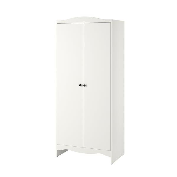 SMÅGÖRA Garderobeskab, hvid, 80x50x187 cm